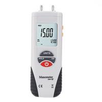 Wholesale digital manometer for sale - Group buy Freeshipping LCD HT Digital Manometer Air Pressure Meter Pressure Gauges Differential Gauge Kit Case Retail Box Data Hold Units