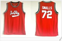 Bad Boys # 72 Biggie Smalls College brodé broderie Vintage Basketball Uniformes Chemises Gilet Rétro Mens Team Sports Rouge Pro Jerseys Pas Cher