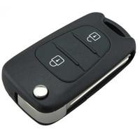 складной ключ кейс оптовых-Гарантия 100% Flip Folding Elantra 3 Buttons Car Key Shell Замена для Hyundai Elantra Flip Remote Key Blank Case Бесплатная доставка