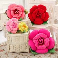 Wholesale-Red Rose Flower Serie Cuscino peluche Piante Cuscino peluche Home Decor San Valentino Regalo Forniture di nozze