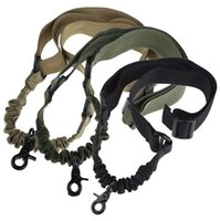 Wholesale single point sling bungee resale online - High Strength One Single Point Adjustable Sling Carabiner Lanyard Adjustable for Rifle Gun Bungee Cord Gun Sling Strap Camping