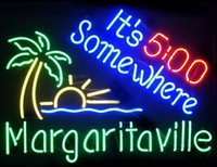 22 * 24 É 5 horas em algum lugar Margaritaville Beer Bar Neon Light Sign Display