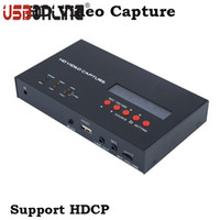 Wholesale video capture box - Wholesale- eZcap283 HD Video Capture YPbPr Recorder Box With Scheduled Recording 1080P HDMI Game Capture for XBOX One 360 PS3