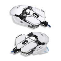 Wholesale Gaming Programmable - Combaterwing 4800 DPI Optical USB Wired Professional Gaming Mouse Programmable 10 Buttons RGB Breathing LED Mice