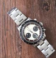 Wholesale Antique Tags - Luxury Top Brand quartz chronograph Watch For Mens Stainless Steel Fashion Antique Paul Newman Wristwatch Business Men's Watch