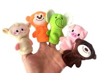Wholesale Stuffed Dolls Big Monkey - 10PCS Mini Baby Toys Cute Cartoon Embroidery Fox Monkey Animal Finger Puppet Plush Toys Child Baby Favor Dolls Boys Girls Finger Puppets 467