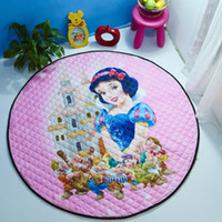 Wholesale Kids Skid Resistance Frozen Rabbit Princess Play Mat Rugs and Toy Organizer Storage Cotton Inches for Girls or Boys Playmat