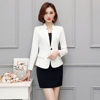 Wholesale Two Piece Ladies Dress Suits - New Arrival Women Career Skirt Sets Elegant Fashion Ladies Business Suits Slim Female Work Wear Outfit Two Piece Dress