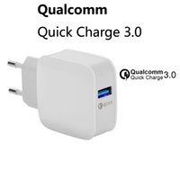 Wholesale Travel Charger Iphone Box - QC3.0 Quick charge 3.0 High quality Adaptive Fast Charging Travel Wall Charger Auto Match for Samsung S7 S8 with retail box