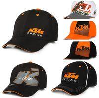 şapka moto toptan satış-2019 Yeni Moto GP Mektuplar KTM Yarış Beyzbol Kapaklar Motokros Sürme Spor Şapka Erkek Snapback Kapaklar Için Hip Hop Güneş Şapka 8 Renkler
