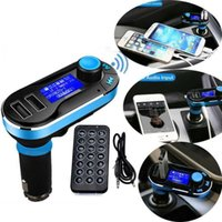 Wholesale Mp4 Free Music - Wholesale- 5-in-1 Wireless bluetooth Car Music Mp3 Mp4 Player FM Transmitter Dual USB Charger Remote Control Hands-Free