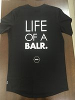 Wholesale Life Size Women - 2017 life of a BALR fitness t shirt men women camisa masculina luxury brand clothing round bottom long back t-shirt Euro size