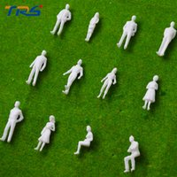 Wholesale Ho Scale People - Wholesale- 1:50 scale model miniature white figures Architectural model human scale HO model ABS plastic peoples