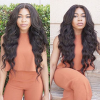 Wholesale sell human hair for wigs for sale - Group buy Hot selling Simulation Human Hair Wigs Wave Full Wigs for black women natural color Simulation lace wig