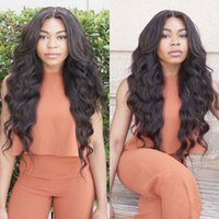 Wholesale Hair Color Simulation - Hot selling Simulation Human Hair Wigs Wave Full Wigs for black women natural color Simulation lace wig