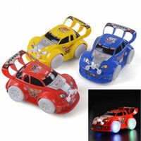 Wholesale Model Cars Led Lights - LED Car Toys LED Lighted Toys Cute Cars Different Color Kids Christmas Gift Race Car Model Lighting Play Music Kids Playing Safety Toy