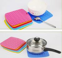 Wholesale potholder bowl resale online - kitchen bowls potholders pot holder placemat silicone coasters cup mat anti slip mat anti scalding heat mat