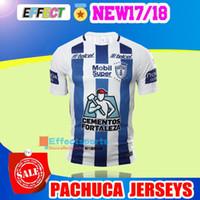 Wholesale Manga Men - Thailand Quality 2017 18 Manga Liga LIGA MX Club Pachuca Home White Blue Soccer Jersey Pachuca 17 18 Maillot De Foot football Shirts