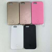 Wholesale Flash Coverings - For iPhone 5S 6 6S 7 8 Plus Samsung S6 S7 edge Plus Flash Lighting Selfie Case Cover Without Power Bank With Retail Package