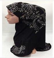 Wholesale Scarves Islamic Women - Muslim Real Scarf and Hijab Oversized Neck Accessories Para Cabelo Rhinestone Headband Wrap 2017 Newest Fashion for Women Islamic Design
