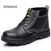 Wholesale- Plus Size 35-46 Work Safety Men Boots Chaussures Chaussures Chaussures Chaussures Chaussures Chaussures
