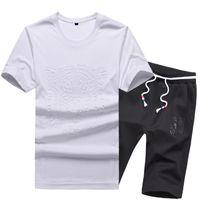Wholesale Tiger 3d Sweatshirt Men - Men's T-Shirt 3D Tiger Printed Sweatshirt Luxury Summer Clothing Tracksuit Short Sleeve Slim Youths Sportswear Tshirt