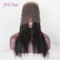 einstellbare haarverlängerungen großhandel-Top-Qualität 360 Lace Frontal Closure brasilianische indische Jungfrau menschliches glattes Haar mit verstellbaren Trägern Malaysian Human Hair Extensions