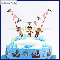 Atacado - 2015 New Luxury Kids Birthday Party Decoration Set Mermaid Ariel Theme Party Supplies Baby Birthday Party Pirate Cake Bunting