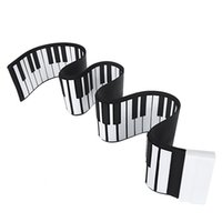 Wholesale Music Roll Up - Wholesale- USB Midi Flexible Roll Up Piano 88 Keys Electronic Silicon Music Keyboard Portable