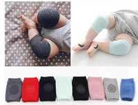 Wholesale Baby Knee Crawling Socks - Baby Knee Protector Anti Slip Knee Pads Cotton Baby Socks For Newborns Baby Safety Crawling Elbow Cushion Leg Warmers DHL Free Shipping