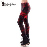 Wholesale Blood Leggings - Wholesale- 2016 Summer Leggings For Woman Blood Stains Digital Print Fitness Leggings Pencil Pants Black Milk KDK1393