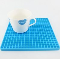 Wholesale New Pad Inch - New Arrival 7-inch Silicone Pot Holder Trivet Mat jar Opener spoon Rest Non Slip Flexible Durable Heat Resistant Hot Pads