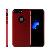 Wholesale Magnet Plastic Cover - Full Protective Case for iPhone 7 Plus Built-IN Magnet Iron for Car Holder Super Fiber Back Cover for iPhone 7 6 Plus