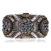 Wholesale Clutch Festa - New LUXURY GEM Diamond Flower Crystal Evening Bag Clutch Bags Hot Styling Day Clutches Lady Wedding Purse Bolsa De Festa