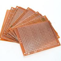 Wholesale Experiment Pcb - 10Pcs DIY Prototype Paper PCB Universal Experiment Matrix Circuit Board 5x7CM