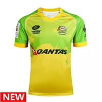 Wholesale Australian Quality - Australia rugby jerser 16 17 2018 Zealand Australian rugby jerseys Top Thailand quality 3A Australia rugby shirt free shipping