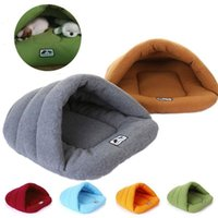 Wholesale cave beds online - Cozy Pet Mat Puppy Pet Cat Dog Nest Bed Puppy Cave House Sleeping Bag Mat Pad Soft Warm Cushion Sleep Bag Moisture proof Pet Supplies