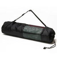 Vente en gros-Portable Yoga Pilates Mat Sac en nylon Sangle réglable Polyester Stitching Sac Yoga Mat Backpack