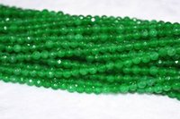 "Wholesale Emerald Round Faceted Beads - New 6mm Natural Emerald Faceted Loose Beads Gemstone 15""AAA"