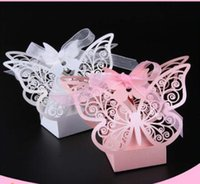 Wholesale Chinese New Year Decorations Box - 100pcs Butterfly Laser Cut Candy Box Wedding Favor Box Wedding Favors Gift Box Wedding Decoration Party Supplies