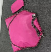 Wholesale Cross Over - free shipping 37 cm Material PVC 3 chains 2 bags women fold over Fala Mccartney luxury handbag STella women bags
