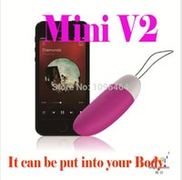 Wholesale Mini Vibration Egg - The 2nd Generation Sex Products Mini Vibe Wireless Smartphone Remote Controlled Jumping Egg Women IOS APP Sex Vibration