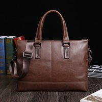 New Fashion Brand Mens Malote Business Shoulder Bag Crossbody Messenger Bags Alta qualidade 100% Genuine Leather Laptop Tote Bags Handbags