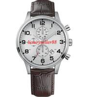 Wholesale Herren Uhr - New Aeroliner Herren Croc Geprägt Lederarmband Chronograph Uhr 1512447
