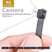 Wholesale Server Monitor - P2 WIFI HD 1080P Mini DV Spy Hidden Camera with 7 camouflage accessories HD small lens Global server Monitor romote network Camera Multi-vi