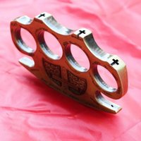 Wholesale Bronze Hand - Antique Bronze Self Defense Knuckle Dusters Jewelry Steel Brass Personal Security Pendant Hand Finger Buckle Ring Gold Silver 3 Colors