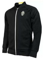 Wholesale Soccer Tracksuit Free Shipping - Up to date best quality 16 17 Juve black jerseys tracksuit Football Shirt Training Suit long sleeve soccer Jacket free shipping