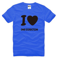 Wholesale I Love One Direction - I Love One Direction 1D Fans Mens Men T Shirt T-shirt Fashion 2016 New Short Sleeve O Neck Cotton Tshirt Tee Camisetas Masculina