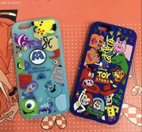 Wholesale Wholesale Iphone Goophone - 3d Cute Cartoon Monster university Phone Silicone Case Toy Story Soft Cover For samsung goophone S8 iPhone 6 6S Plus i7 7 Plus