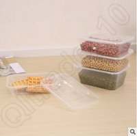 Wholesale Wholesale Disposable Cake Containers - New 1000ml Disposable Food Box Take Out Case Rectangle Shape Food Container for Cake Food Holder Lunch Box With Lid CCA5600 900pcs